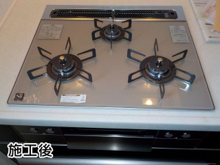 ノーリツ ビルトインコンロ N3WS1PWAS6STE-13A幅60cm エレガントグレーガラストップ グリルプレート波型別売 ≪≫